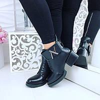 Женские кожаные ботинки LV