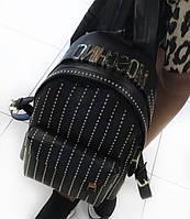 Женский рюкзак брендовый Moschino Москино дорогой Китай черный, фото 1