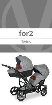 Детская коляска для двойни Verdi FOR2