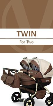 Детская коляска для двойни 2 в 1 Verdi Twin