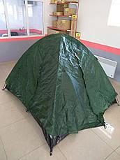 Палатка кемпинговая 3-х местная с тентом и коридором TOURIST CT17103, фото 3