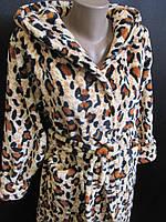 Купить недорогие халатики женские махровые леопардовые, фото 1