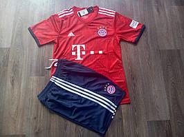 Детская футбольная форма Бавария  2018-2019 основная красная