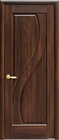 Дверное полотно Прима Глухое с гравировкой Каштан