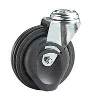 Колеса для травалатора Фрегат 62 80 125 ШК-Т, диаметр 125 мм, нагрузка 80 кг (Серая термопластичная резина / полипропилен (комфорт серия)) твёрдый PU
