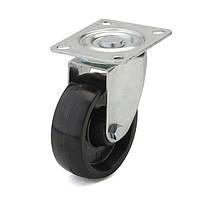 Колеса с поворотным кронштейном с площадкой, диаметр 80 мм, нагрузка 100 кг, Фрегат 70 27 080 СТ (Термостойкая фенольная смола) тефлоновая втулка