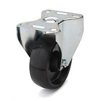 Колеса с неповоротным кронштейном, диаметр 80 мм, нагрузка 100 кг, Фрегат 70 10 080 СТ (Термостойкая фенольная смола) тефлоновая втулка