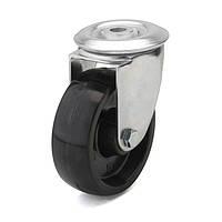 Колеса с поворотным кронштейном с отверстием, диаметр 80 мм, нагрузка 100 кг, Фрегат 70 80 080 СТ (Термостойкая фенольная смола) тефлоновая втулка