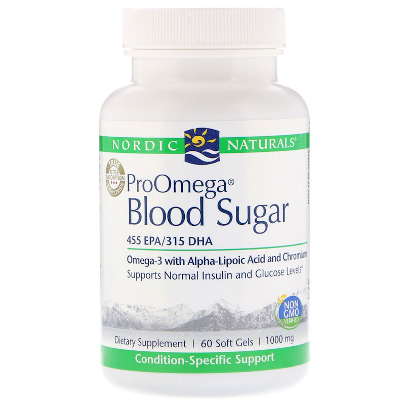 """Nordic Naturals, """"ПроОмега для уровня глюкозы в крови"""", пищевая добавка с омега-3 для поддержания уровня глюкозы в крови, 1000 мг, 60 мягких"""