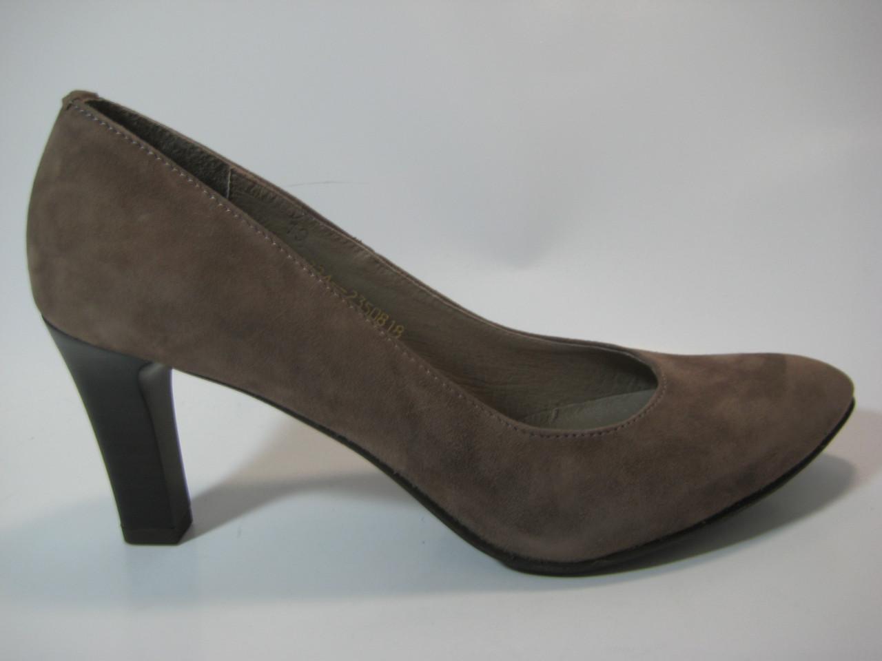 Замшевые женские бежевые туфли ТМ Камея, фото 1
