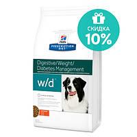 Hills PD Canine W/D Лечебный корм для собак предотвращает ожирение, колиты, запоры, сахарный диабет, 1,5 кг