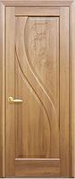 Дверное полотно Прима Глухое с гравировкой Золотая ольха