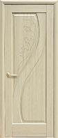Дверное полотно Прима Глухое с гравировкой Ясень