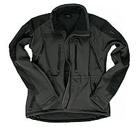 Куртка демисезонная soft shel черная   PLUS  MIL-TEC Германия