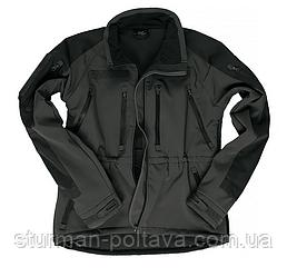 Куртка демісезонна soft shel чорна PLUS MIL-TEC Німеччина