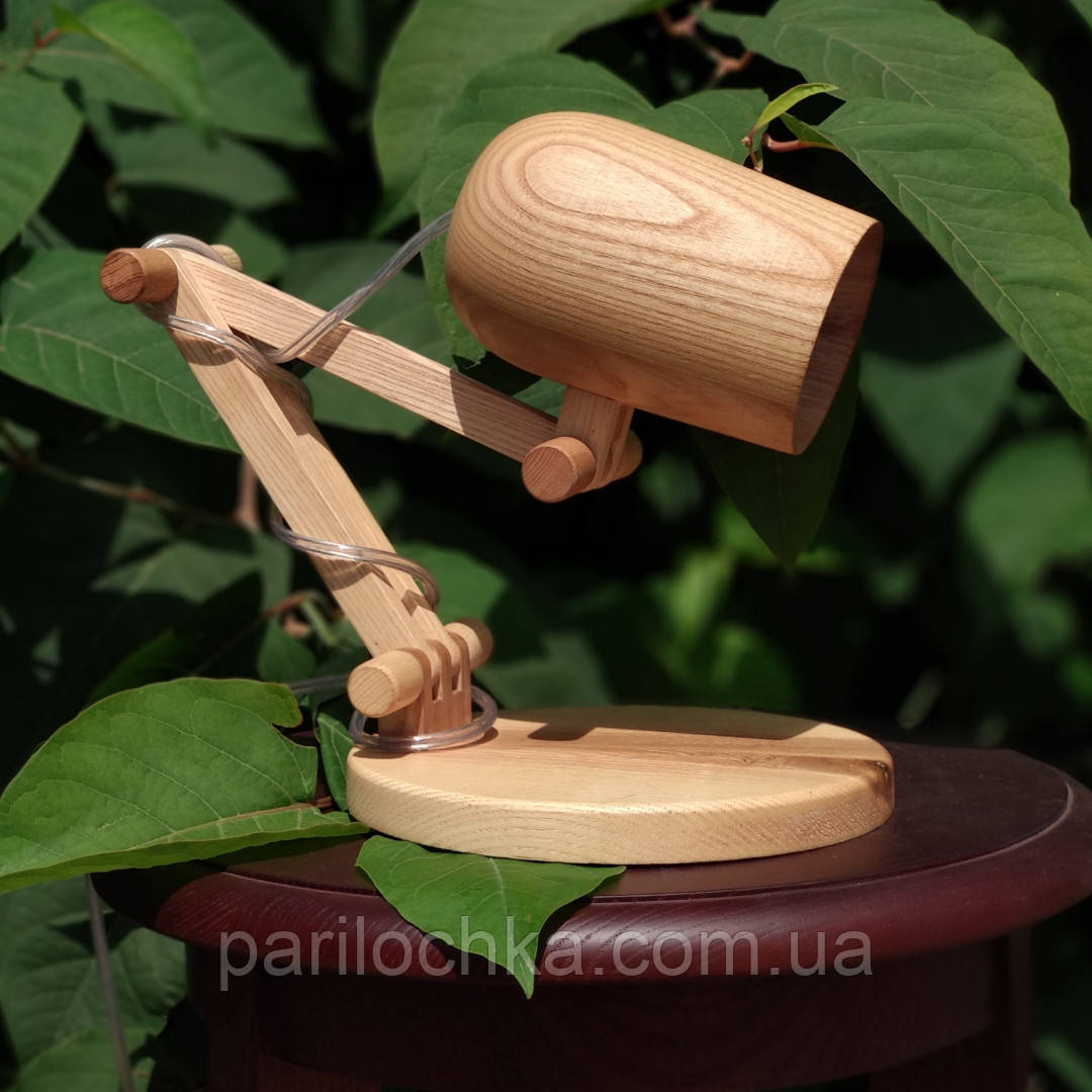 Деревянный светильник трансформер.