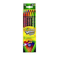 Цветные карандаши Crayola Twistables вертушки с ластиками, 12 шт (68-7508). Оригинал