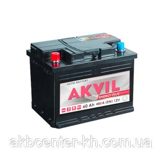 Авмобильный аккумулятор AKVIL ENERGY PLUS 6СТ- 60А3 480А L