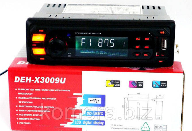 Автомагнитола MP3 с Евро Разъемом DEH X 3009 U