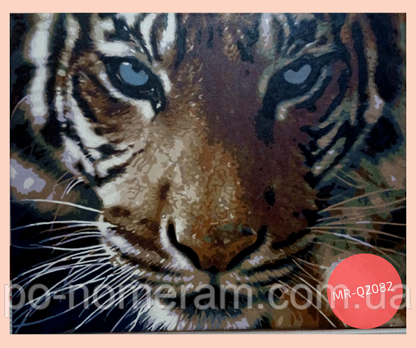 рисовать акриловыми красками тигра