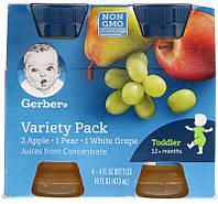 Gerber, Variety Juice Pack, Toddler, 12+ Months, 4 Pack, 4 fl oz (118 ml) Each