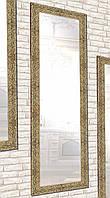 Зеркало настенное Factura в пластиковом багете  Shining stone 60х174 золотое, фото 1