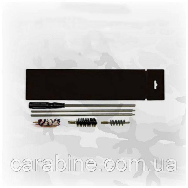 Набор для чистки гладкоствольного оружия 16 калибра (ПВХ упаковка, шомпол, 3 ерша) арт 16008
