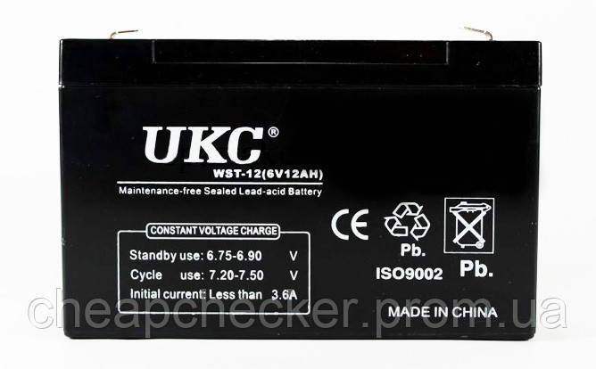Аккумуляторная Батарея UKC 6 V 12 А