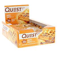 Quest Nutrition, Protein Bar, Maple Waffle, 12 Bars, 2.12 oz (60 g) Each