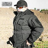 Куртка полиции зимняя черная Patrol Jacket Tactical Black Camo-tec, фото 1