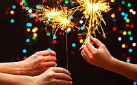 Бенгальские Огни для Атмосферы Нового Года Рождества Длина 16 см Упаковка 50 шт, фото 1