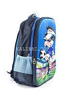 Рюкзак школьный Футбол 5949 синий, фото 2