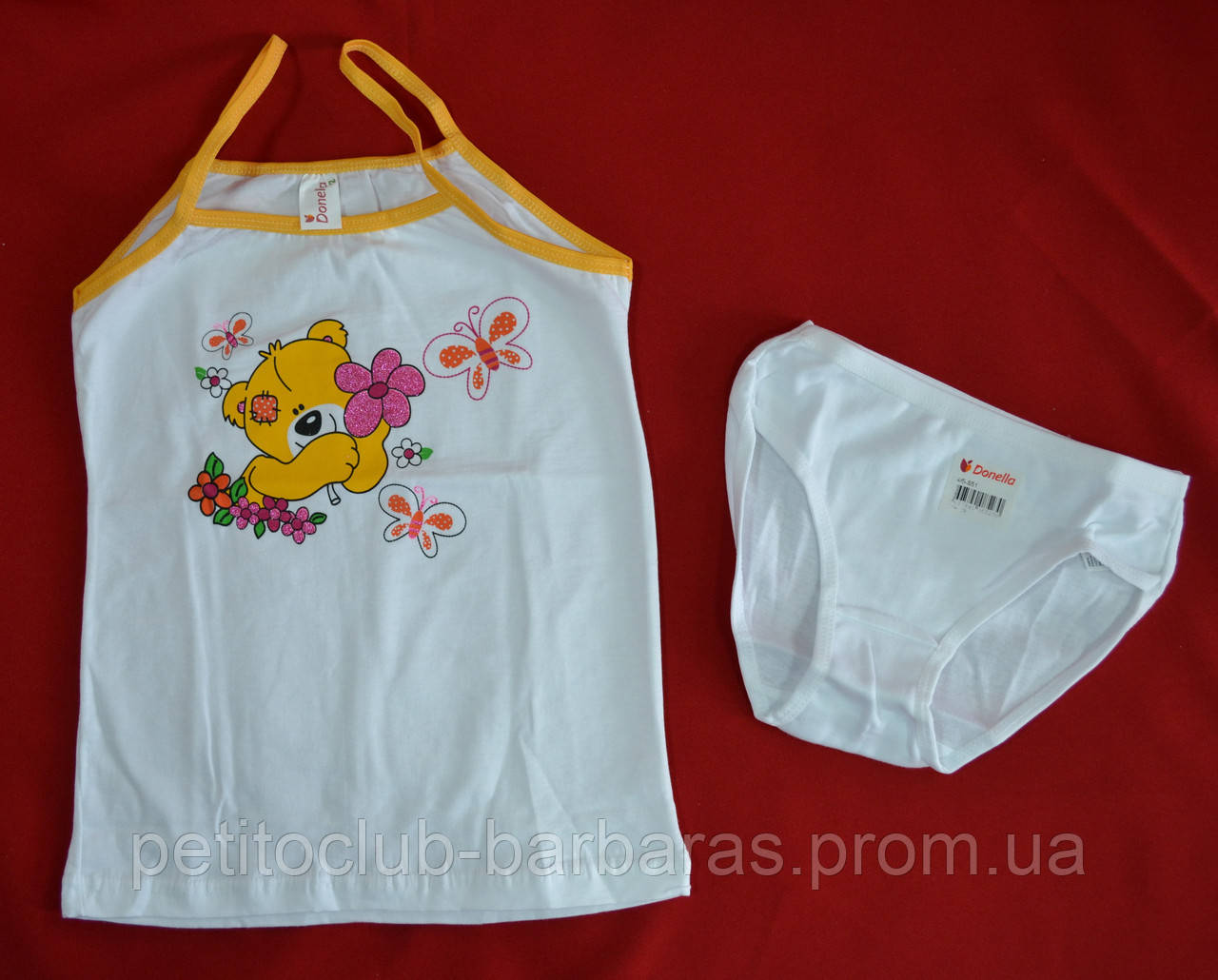 Комплект білизни для дівчинки в жовтий Ведмедик (Donella, Туреччина)