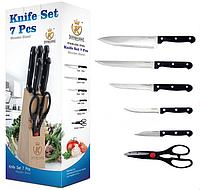 Набор ножей с ножницами на дерев. подставке  КК-1005 1/6шт