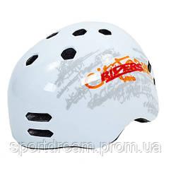 Шлем для BMX, Skating, Freestyle и экстремального спорта Котелок белый MTV18-1