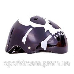 Шлем для BMX, Skating и экстремального спорта Skull Котелок черный SK-5616-015