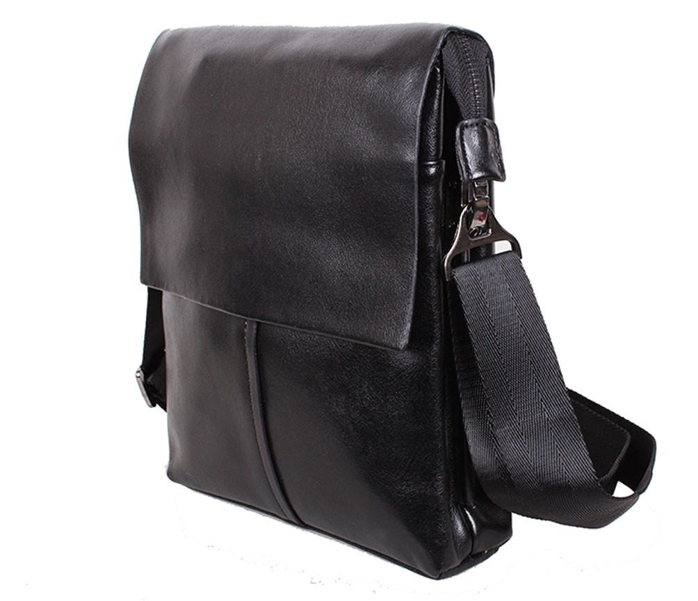 Солидная сумка для мужчин из натуральной глянцевой кожи 302029-6