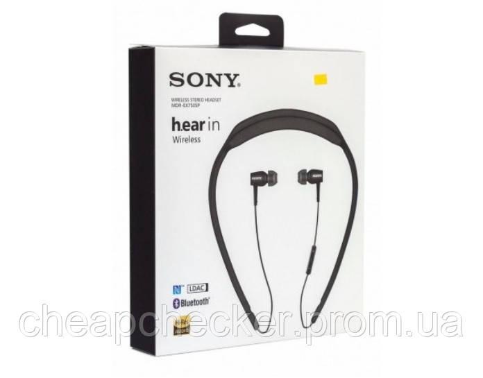 Вакуумные Наушники В Стиле Sony MDR-EX750SP с Микрофоном Wireless Bluetooth am, фото 1