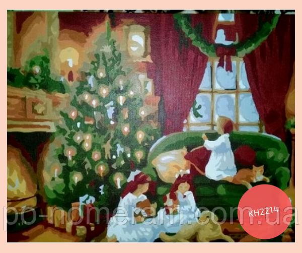 картина рождество рисовать акрилом