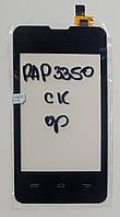 Сенсор (тачскрін) для Prestigio MultiPhone 3350 Duo,Explay A351 чорний