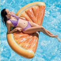 Intex 58763 Пляжный матрас Апельсинка 178х85 см