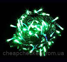 Внешняя Уличная Новогодняя Гирлянда Нить Зеленый Провод 580 LED Лампочек Цвета в Ассортименте