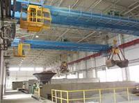 Кран мостовой двухбалочный специальный грейферный г/п 32/10 т.