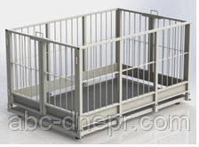 Электронные весы для взвешивания свиней и мелкого рогатого скота 0.75x1.25 м