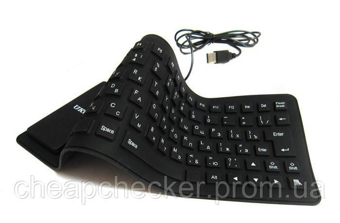 Гибкая Силиконовая Компьютерная USB Клавиатура UKC Keyboard X3