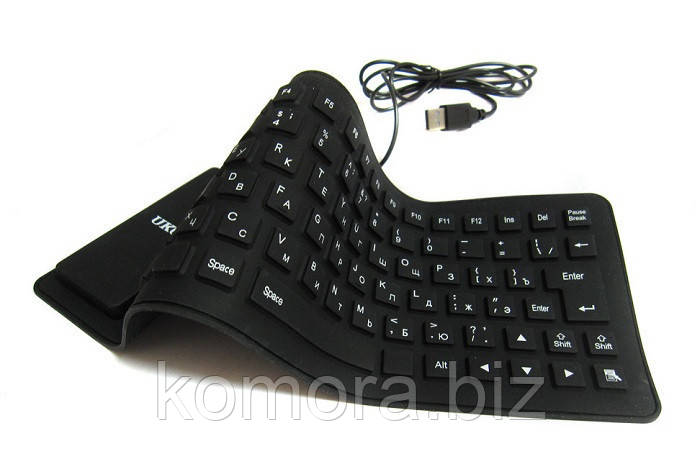 Гибкая Силиконовая Компьютерная USB Клавиатура UKC Keyboard X3, фото 1
