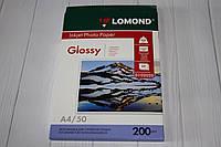 Фотобумага Lomond Glossy для струменевого друку А4 одностороння 50 листів