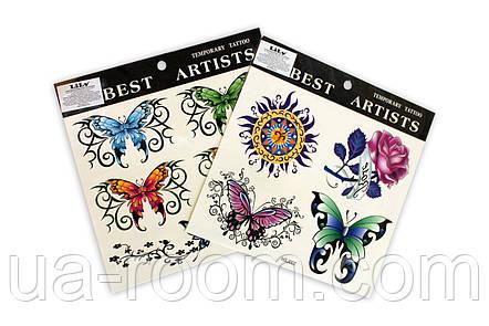 Временные татуировки на тело Best artist Lily HSJ, фото 2