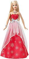 Барби из Коллекционной серии в красном вечернем платье Barbie 2015 Holiday Sparkle Doll, фото 1