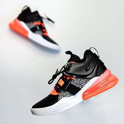 Кроссовки мужские Nike Air Force 270 Black/White/Orange, фото 2